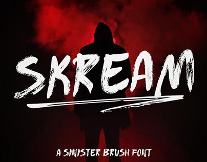 SKREAM - FREE HORROR BRUSH FONT