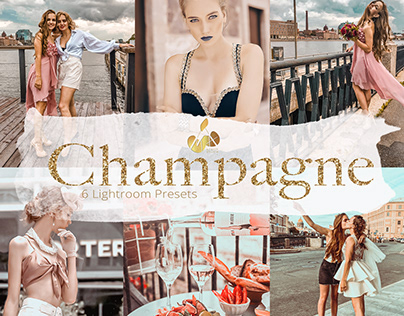 Champagne Collection Lightroom Mobile Presets