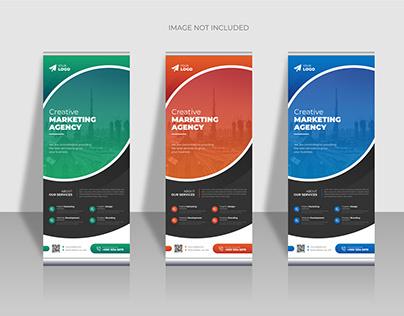 Creative business roll up banner design template