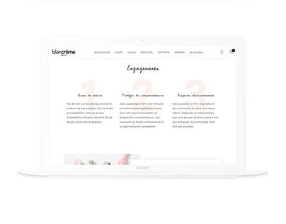 Blancrème   Artistic director & webdesign