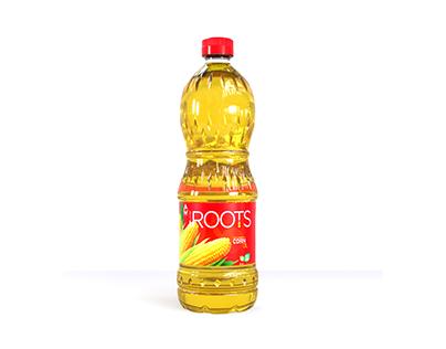 Roots oil 3d bottle visualization