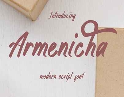 Free Modern Script Font (Armenicha)
