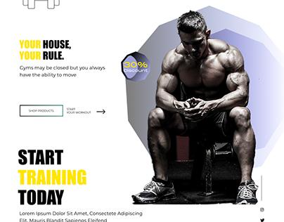 Gym training website concept