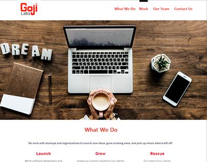 Goji Labs Website Redesign