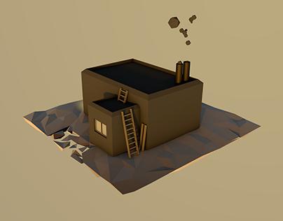 Isometric Garage model // C4D