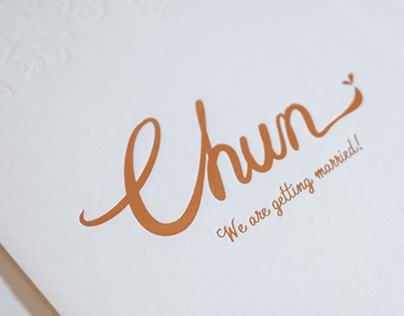 Chun, Wedding Invitation