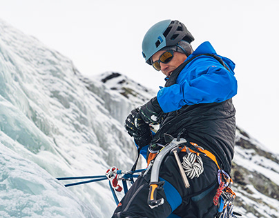 Ice climbing afternoon