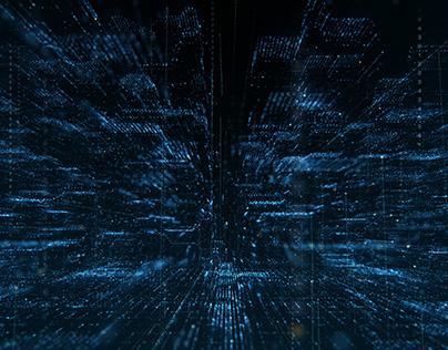 Futuristic Matrix Cyber Environment