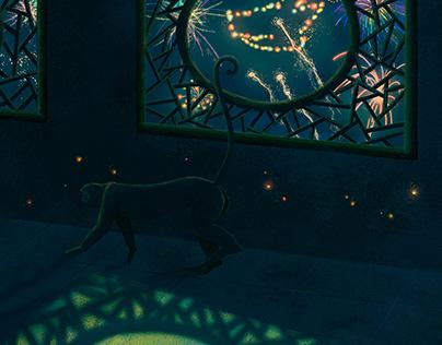 Lantern Festival 2018 (Year of Dog) / Digital painting