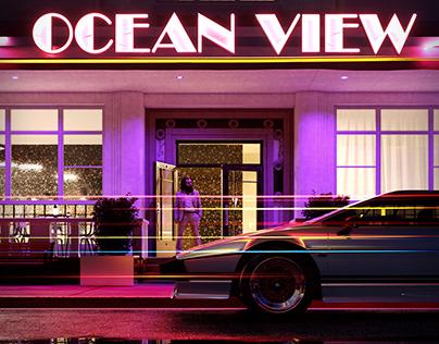 Ocean View hotel archviz