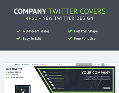FREE Company Twitter Headers