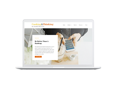 Cooking & Thinking | Website Project
