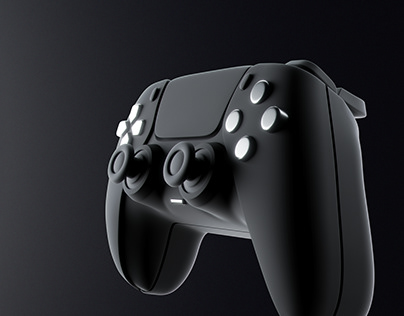 PS5 controller abstract visualization