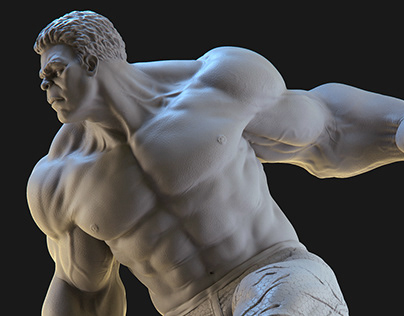 Hulk Fan Art Statue