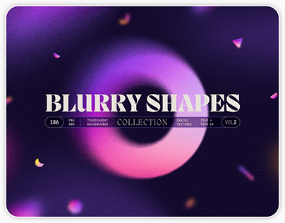 Blurry gradient shapes collection