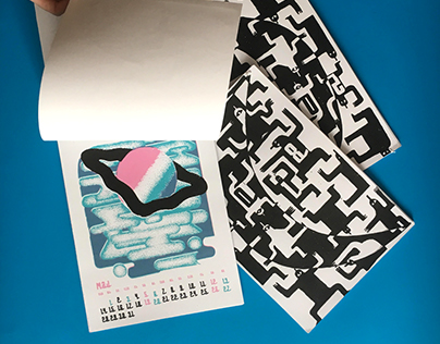 Screen printed calendar 2018