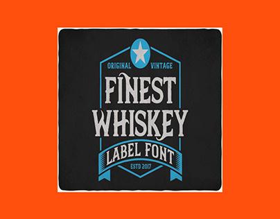 Finest Whiskey Font & Illustrations