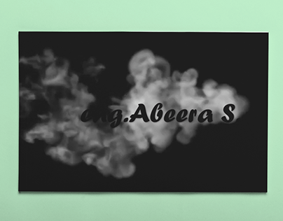 Grey Smoked text effect Animation with PowerPoint