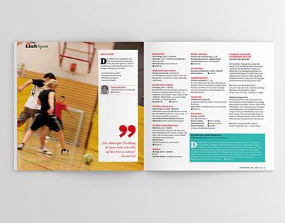 YMCA Nuremberg monthly magazine