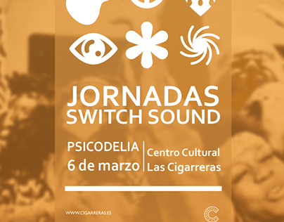 "Carteles conferencias ""SWITCH SOUND"""