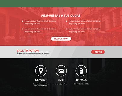 Maqueta web y diseño - Arenzo Abogados