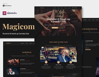 Magicom - Magician & Comedian Club Elementor Kit
