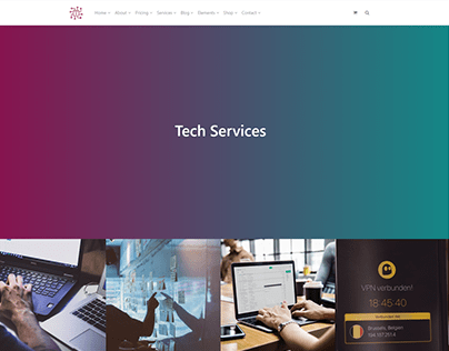 Services Full-Width Page - IT WordPress Theme