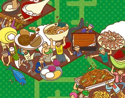 People with Shizuoka food