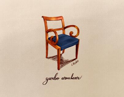 porada garbo armchair