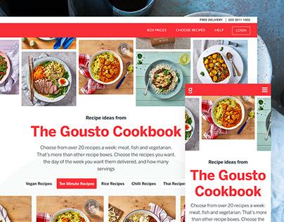 Gousto.co.uk Re-Design