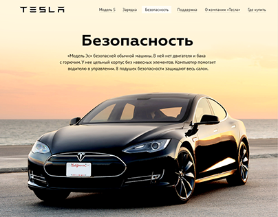 Tesla Safety Page (Student Work)