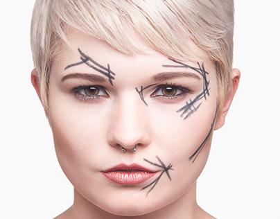 Beauty Portrait with Retouching Blueprint/Before image