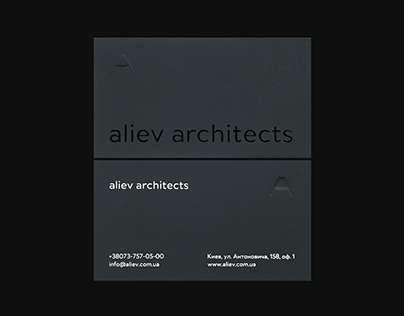 Aliev Architects — Identity