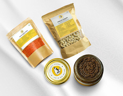 Packaging and Label Design for Thought Foodz