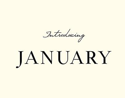 January Free Typeface