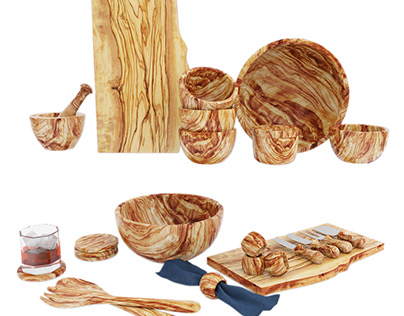 Pottery Barn Olive wood serveware collection