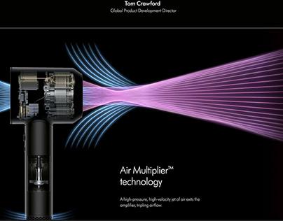 Dyson Supersonic Website Design