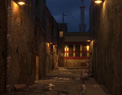 Set Design Of an Alley