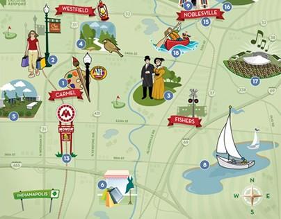 Hamilton Country Tourism Map