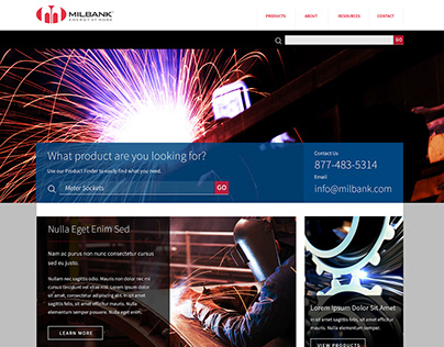 Industrial Website Design Proposal