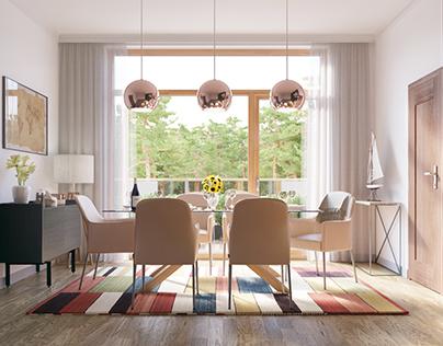 Luxury apartament interior project I 3D visualizations
