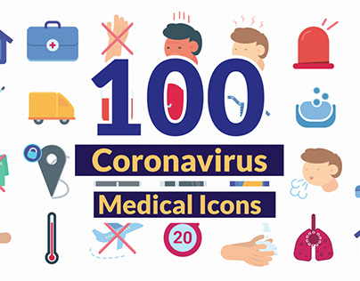 Coronavirus Medical Icons Pack