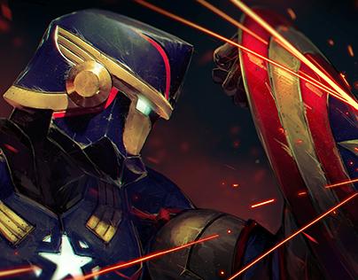 Captain America: Action Shot