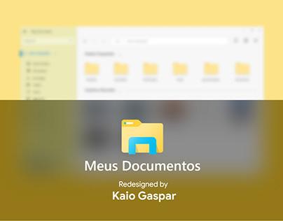 Redesign Explorador de Arquivos - Fluent Design