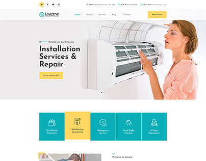Loazzne - Heating & Air Conditioning Template