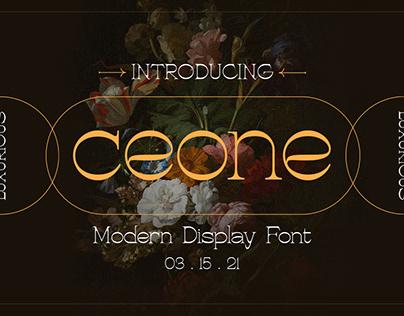 Ceone - Modern Display Font