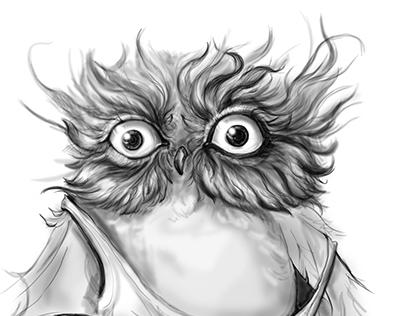 Owl Digital Painting