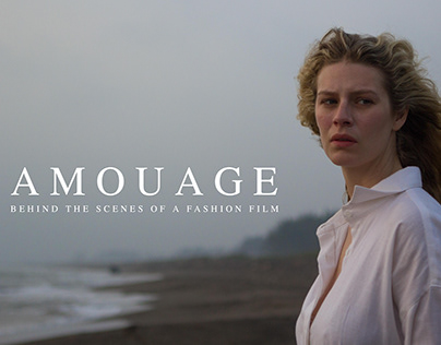 AMOUAGE behind the scenes of a fashion film.