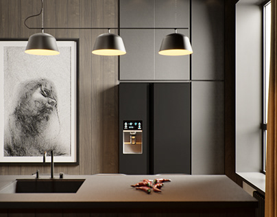 The apartment in dark colors for a bachelor