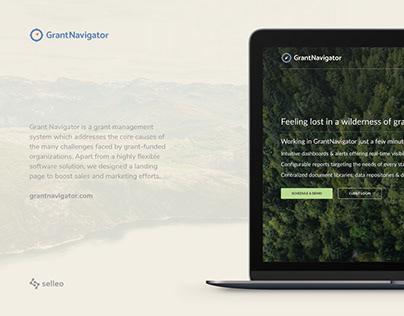 Grant Navigator landing page